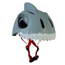 Детский шлем Crazy Safety Акула белая 2-7 лет c фонариком S