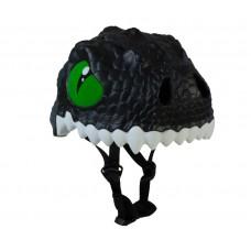 Детский шлем Crazy Safety Дракон черный 2-7 лет c фонариком S
