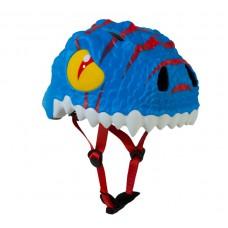 Детский шлем Crazy Safety Дракон голубой 2-7 лет c фонариком S