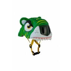 Детский шлем Crazy Safety Тигр зеленый 2-7 лет c фонариком S