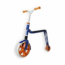 Самокат беговел Scoot and Ride 2в1 Highway ganster белый-голубой