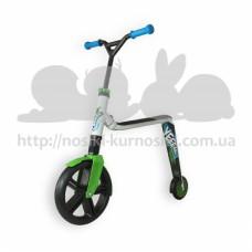 Самокат беговел Scoot and Ride 2в1 Highway ganster белый-зеленый