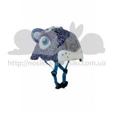 Детский шлем Crazy Safety Леопард пурпурный 2-7 лет c фонариком S