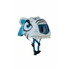 Детский шлем Crazy Safety Тигр белый 2-7 лет c фонариком S