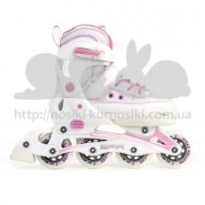 Раздвижные ролики SFR Camden II бело розовый 30-34 RS530W34