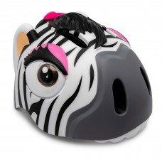 Детский шлем Crazy Safety Зебра 2-7 лет c фонариком S