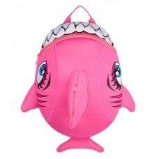Рюкзак детский Crazy Safety Shark Pink неопреновый 33-25 см