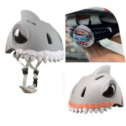 Шлем детский Белая Акула с задним фонариком