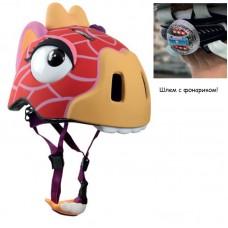 Шлем детский Жираф с задним фонариком
