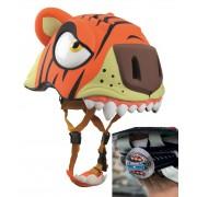 Шлем детский Тигр с задним фонариком