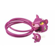 Замок тросовый Чеширский кот