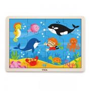 Деревянный пазл Viga Toys Морские обитатели 16 элементов 51451