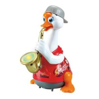 Игрушка музыкальная Hola Toys Гусь-саксофонист красный 6111-red