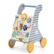 Ходунки-каталка Viga Toys PolarB с бизибордом 44028