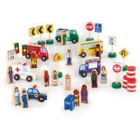 Набор фигурок и машин Guidecraft Block Play к Дорожной системе 36 деталей G6717