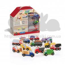 Набор грузовиков Guidecraft Block Play к Дорожной системе 12 шт G6718