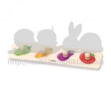Рамка-вкладыш Viga Toys с ручками Овощи 44532