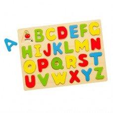 Набор для обучения Viga Toys Алфавит-пазл 58543