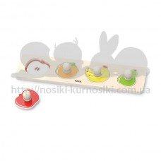 Рамка-вкладыш Viga Toys с ручками Фрукты 44531