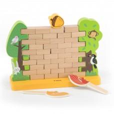 Деревянная настольная игра Viga Toys Стена из кирпичиков 44566