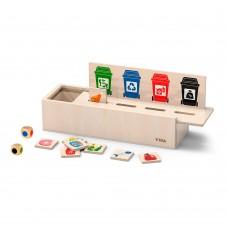 Деревянный игровой набор Viga Toys Сортировка мусора 44504