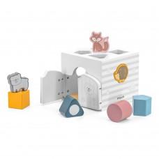 Деревянный сортер с погремушками Viga Toys PolarB Домик для зверят 44052