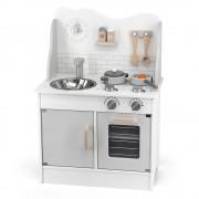 Детская кухня из дерева с аксессуарами Viga Toys PolarB серый 44049