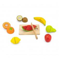 Игрушечные продукты Viga Toys Нарезанные фрукты из дерева 44539