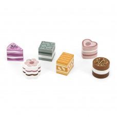Игрушечные продукты Viga Toys PolarB Деревянные пирожные 6 шт 44055