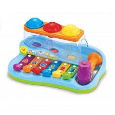 Музыкальная игрушка Hola Toys Ксилофон-стучалка с шариками A856