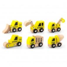 Набор игрушечных машинок Viga Toys Стройтехника 6 шт 50541