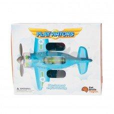 Игрушка самолет Крутись пропеллер Fat Brain Toys F2262ML синий