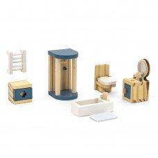 Деревянная мебель для кукол Viga Toys PolarB Ванная комната 44039