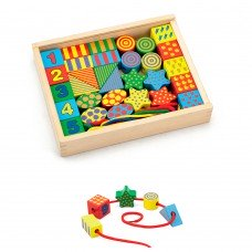 Деревянная шнуровка Viga Toys Веселые фигурки 58505