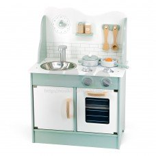 Детская кухня из дерева с аксессуарами Viga Toys PolarB зеленый 44048