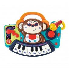 Музыкальная игрушка Пианино-обезьянка с микрофоном