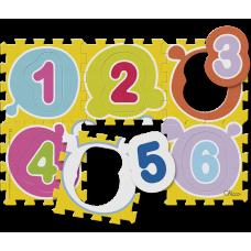 Мягкий коврик мозаика Числа
