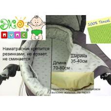 Наматрасник для матрасиков в коляску Чехол Premium 80x35