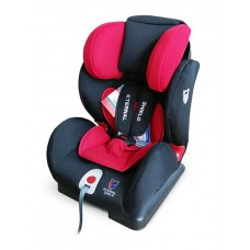Детское автокресло 1-2-3 Honey Baby красный-черный