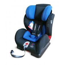 Детское автокресло 1-2-3 Honey Baby синий-черный