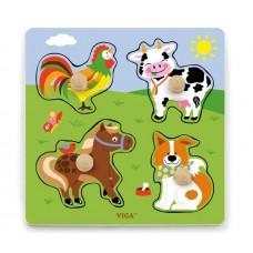 Игрушка развивающая пазл Ферма