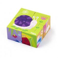 Игрушка развивающая пазл-кубики Насекомые