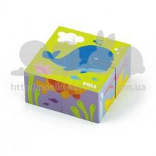 Игрушка развивающая пазл-кубики Подводный мир
