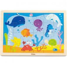 Игрушка развивающая пазл Океан 24 элемента