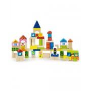 Набор строительных блоков Viga toys Город 75 шт