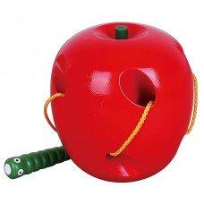 Игрушка шнуровка Яблоко