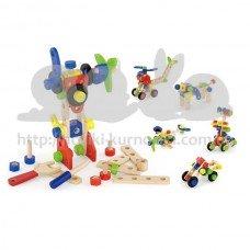 Набор строительных блоков Viga toys 68 шт
