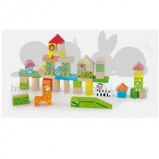 Набор строительных блоков Viga toys Зоопарк 50 шт