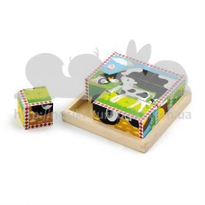 Пазлы-кубики Ферма большой набор
