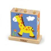 Пазлы-кубики вертикальный Сафари
